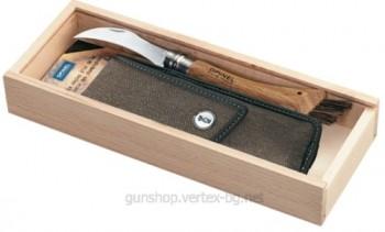 Подаръчен нож за гъби, дръжка дъб, кания