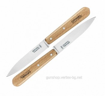 Комплект 2 ножа Opinel №102, карбон, бук
