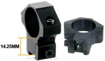 Оптически прицел UTG 4X32 1 инч Mil Dot пръстени за въздушно оръжие