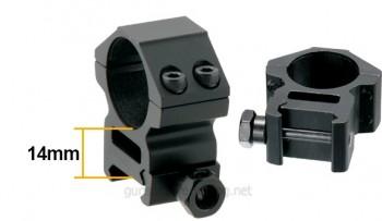 Оптически прицел UTG 4x32 1 инч Mil Dot средни пръстени